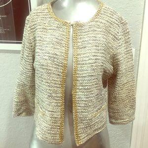 Sleek blazer with gold detailing